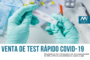Test Rápido COVID-19 a la venta por Insumos Médicos MediPRO